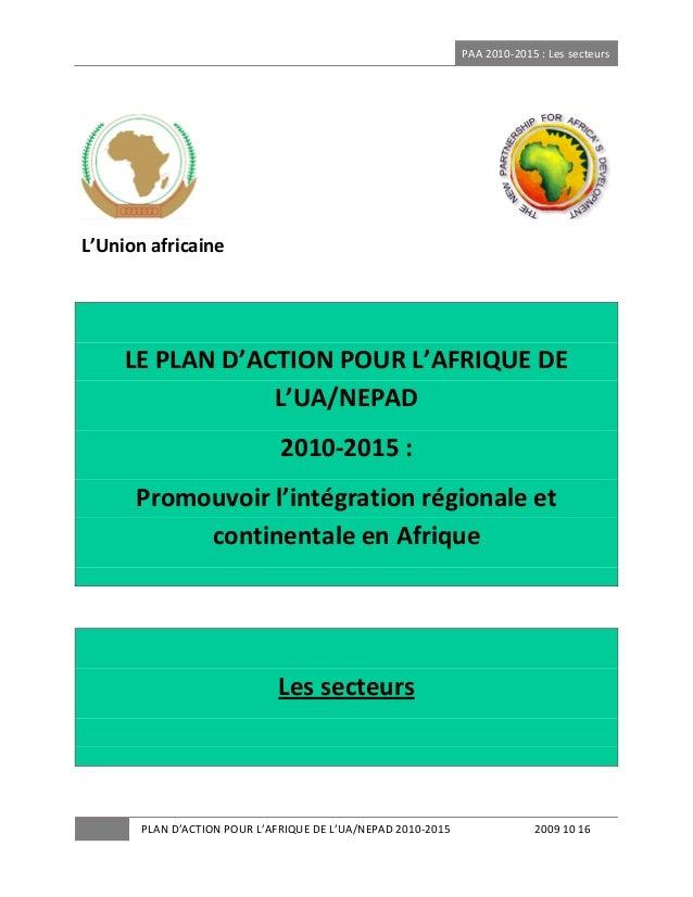 PAA2010‐2015:Lessecteurs  ...