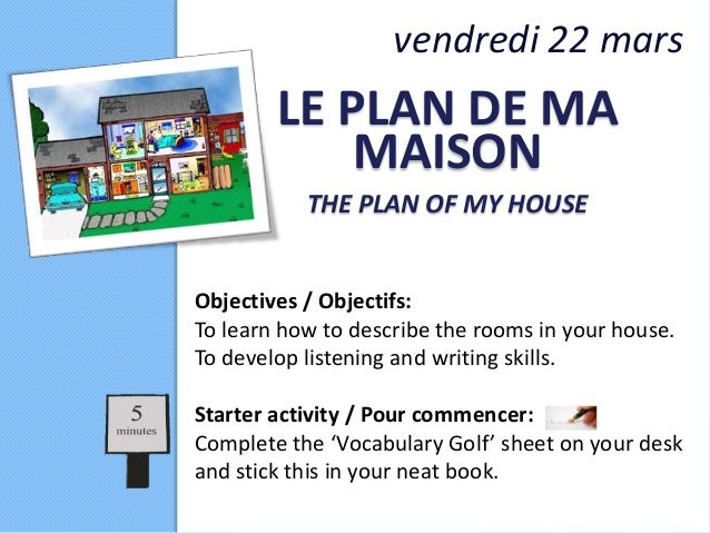 Le plan de ma maison for Plans architecturaux pour ma maison