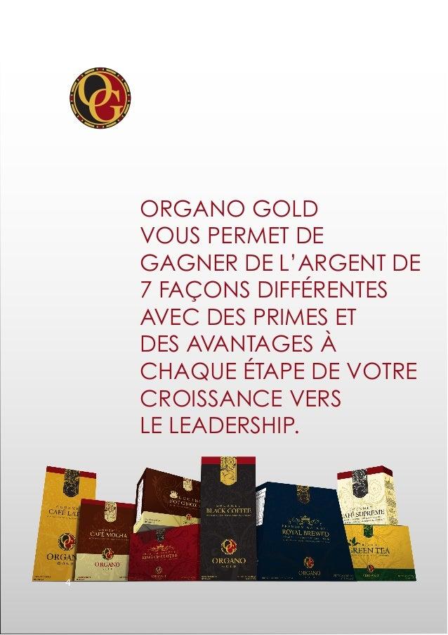 Organo Gold vous permet de gagner de l'argent de 7 façons DIFFÉRENTES avec des primes et des avantages à chaque étape de v...