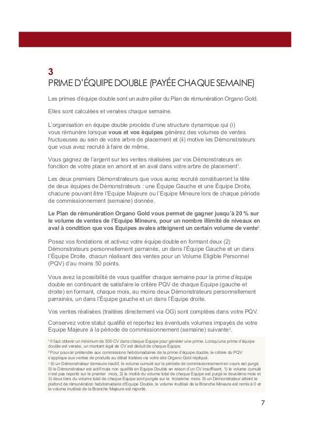 3 PRIME D'ÉQUIPE DOUBLE (PAYÉE CHAQUE SEMAINE) Les primes d'équipe double sont un autre pilier du Plan de rémunération Org...