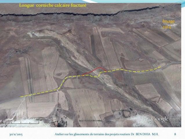 30/11/2015 9 Juillet 2011 Atelier sur les glissements de terrains des projets routiers Dr BEN DHIA M.H.