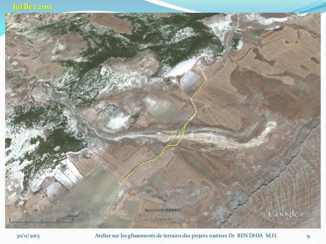30/11/2015 10 Juillet 2013 Atelier sur les glissements de terrains des projets routiers Dr BEN DHIA M.H.