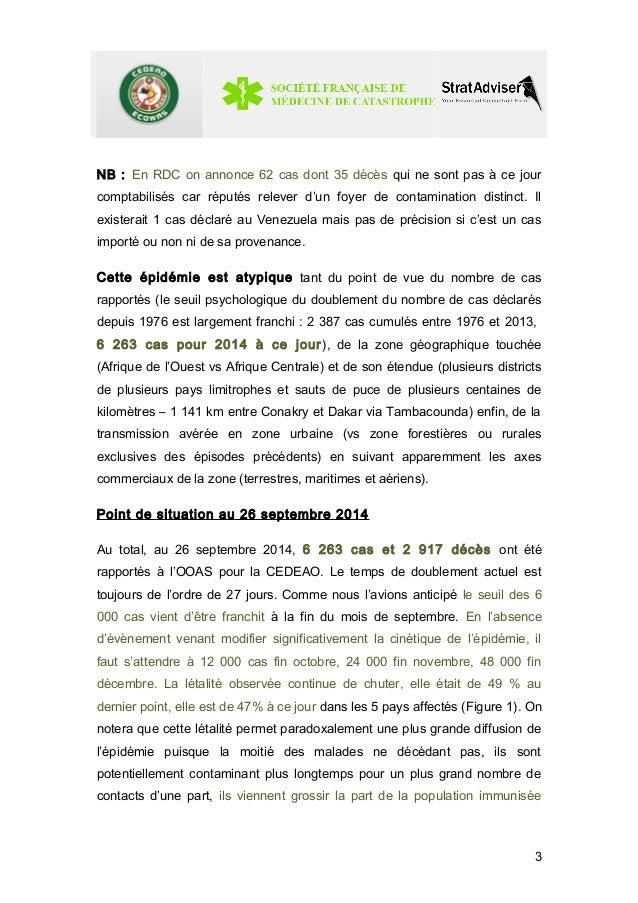 NB : En RDC on annonce 62 cas dont 35 décès qui ne sont pas à ce jour  comptabilisés car réputés relever d'un foyer de con...