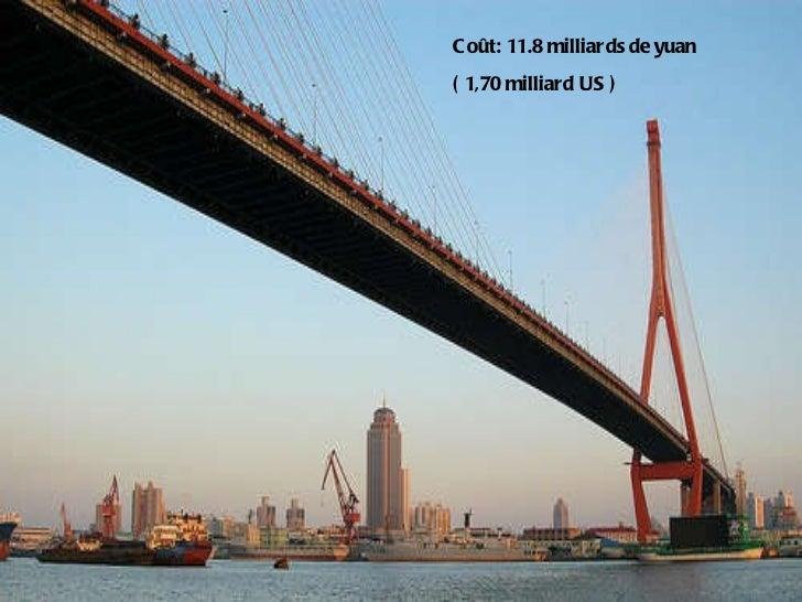 Coût: 11.8 milliards de yuan ( 1,70 milliard US )