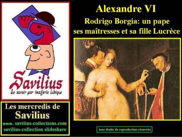 Le pape Alexandre VI