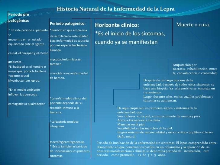 Historia Natural de la Enfermedad de la LepraPeriodo prepatogénico:                                Periodo patogénico:    ...
