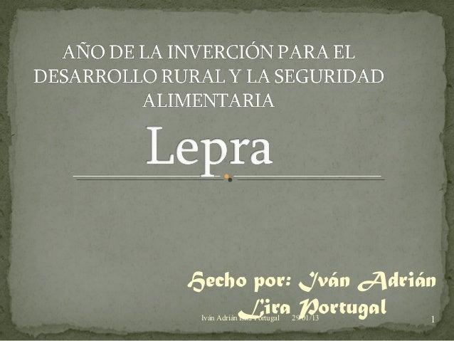 Hecho por: Iván Adrián    Lira Portugal    1 Iván Adrián Lira Portugal   29/01/13