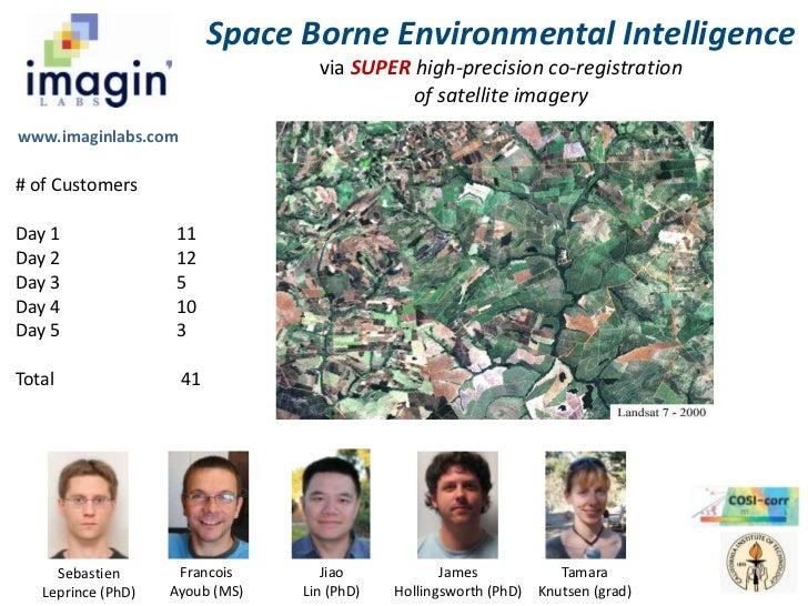 Space Borne Environmental Intelligence                                   via SUPER high-precision co-registration         ...
