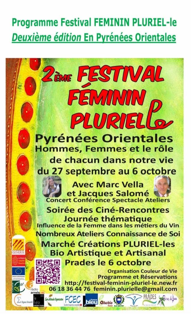 Le programme du 2ème festival féminin pluriel le