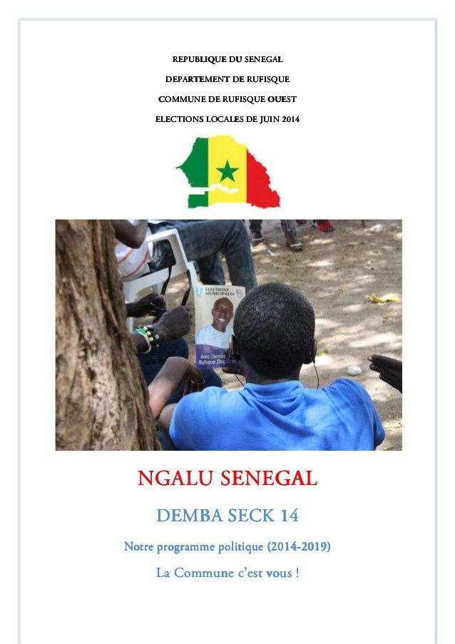 REPUBLIQUE DU SENEGALREPUBLIQUE DU SENEGALREPUBLIQUE DU SENEGALREPUBLIQUE DU SENEGAL DEPARTEMENT DE RUFISQUEDEPARTEMENT DE...