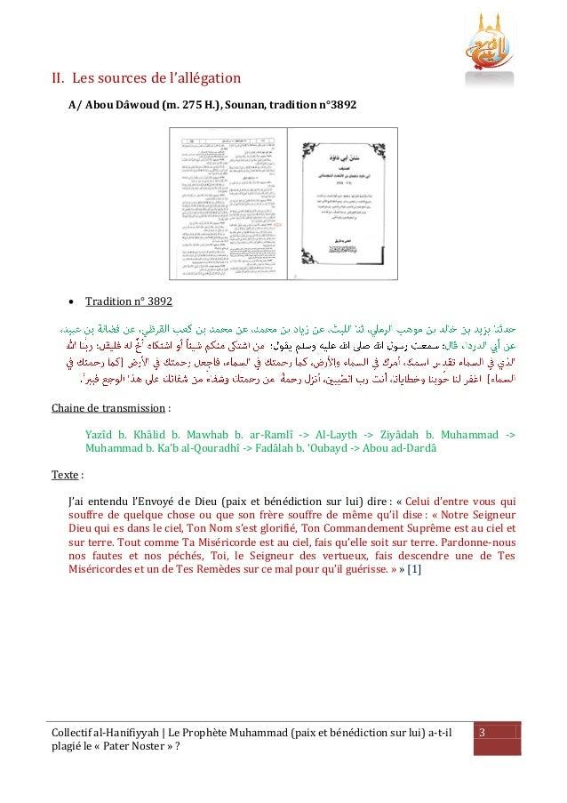 Le prophète muhammad a t-il plagié le pater noster Slide 3