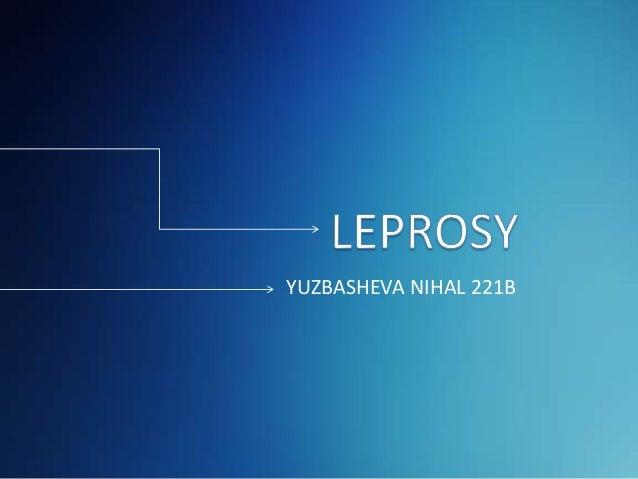 Leprosy - Dermatology