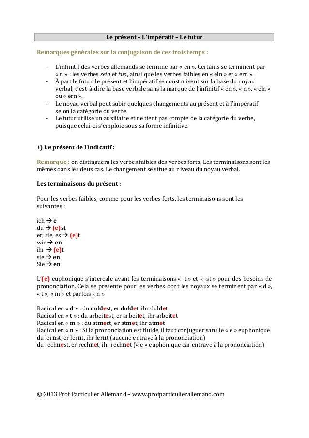 ©  2013  Prof  Particulier  Allemand  –  www.profparticulierallemand.com   Le  présent  –  L'im...