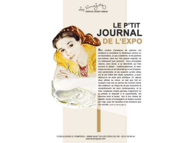Le p'tit journal de l'exposition