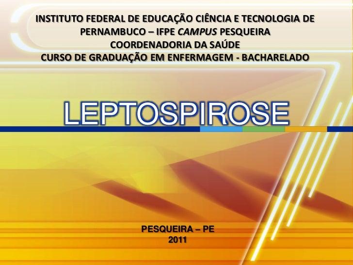 INSTITUTO FEDERAL DE EDUCAÇÃO CIÊNCIA E TECNOLOGIA DE        PERNAMBUCO – IFPE CAMPUS PESQUEIRA              COORDENADORIA...
