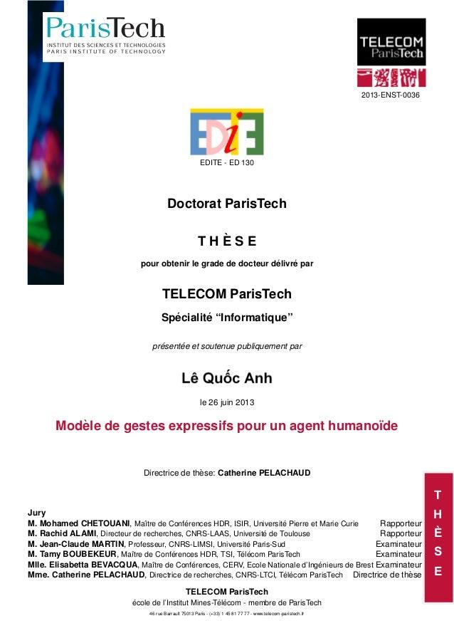 T H È S E 2013-ENST-0036 EDITE - ED 130 Doctorat ParisTech T H È S E pour obtenir le grade de docteur délivré par TELECOM ...