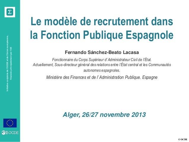 financée principalement par l'UE  Initiative conjointe de l'OCDE et de l'Union européenne,  Le modèle de recrutement dans ...