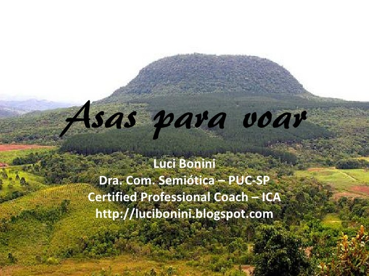 Asas para voar              Luci Bonini    Dra. Com. Semiótica – PUC-SP  Certified Professional Coach – ICA   http://lucib...