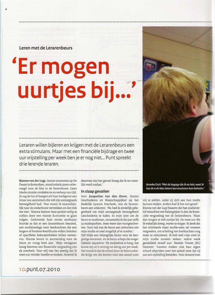 lP          Leren met de Lerarenbeurs          'Er mogen                                                                  ...
