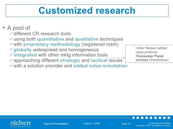 Customized research <ul><li>A pool of  </li></ul><ul><ul><li>different CR research tools  </li></ul></ul><ul><ul><li>using...