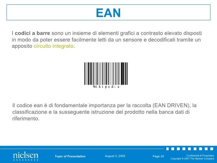Topic of Presentation Page  EAN I  codici a barre  sono un insieme di elementi grafici a contrasto elevato disposti in mod...