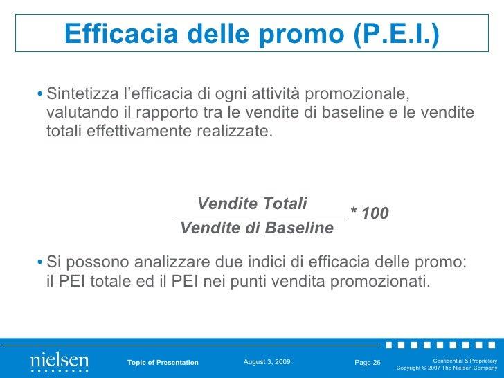 <ul><li>Sintetizza l'efficacia di ogni attività promozionale, valutando il rapporto tra le vendite di baseline e le vendit...