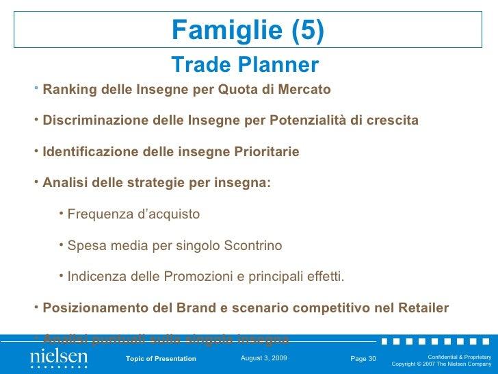 Trade Planner   Topic of Presentation Page  <ul><li>Ranking delle Insegne per Quota di Mercato </li></ul><ul><li>Discrimin...