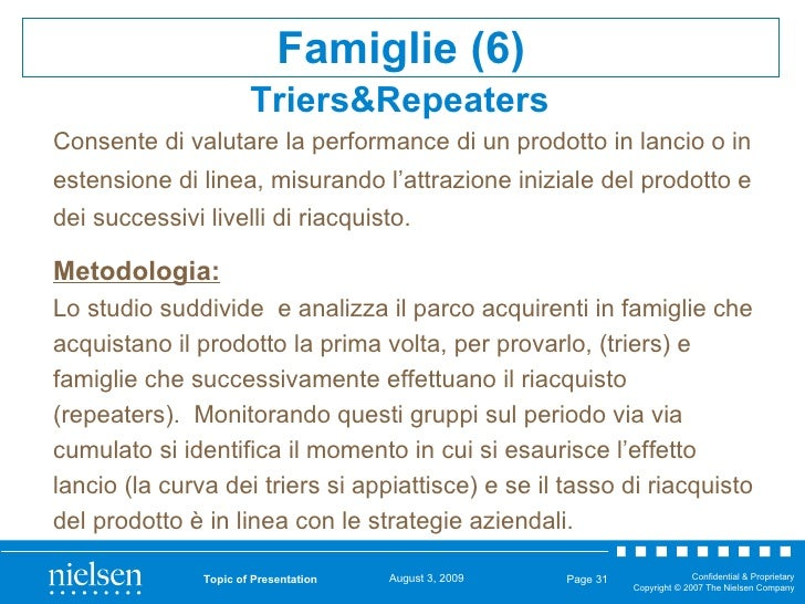 Triers&Repeaters   Topic of Presentation Page  <ul><ul><ul><li>Metodologia: </li></ul></ul></ul><ul><ul><ul><li>Lo studio ...