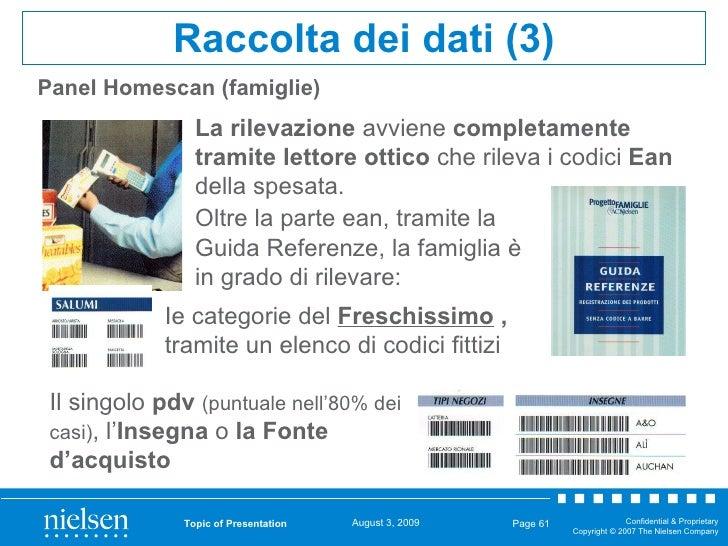 Panel Homescan (famiglie) Topic of Presentation Page  Raccolta dei dati (3) Oltre la parte ean, tramite la Guida Referenze...
