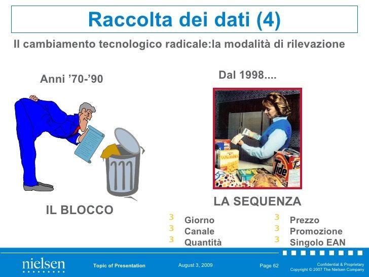 Topic of Presentation Page  Il cambiamento tecnologico radicale:la modalità di rilevazione Raccolta dei dati (4) Anni '70-...