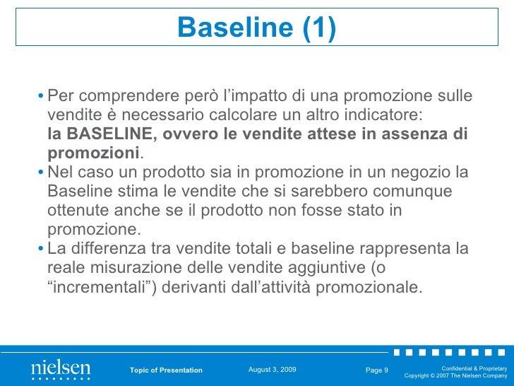 <ul><li>Per comprendere però l'impatto di una promozione sulle vendite è necessario calcolare un altro indicatore:  la BAS...