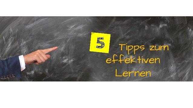 Tipps zum effektiven Lernen