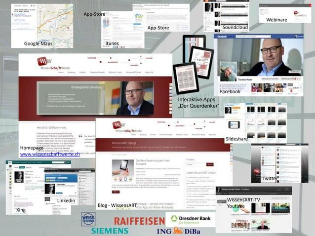 Blog - WissensARTHomepagewww.wissenschafftwerte.chSlideshareTwitterWissensART-TVYoutubeXingGoogle Maps itunesApp-StoreInte...