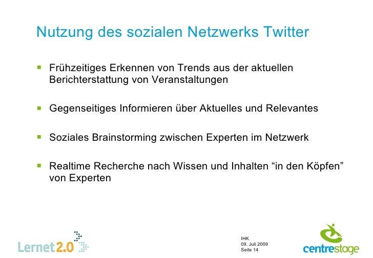 Nutzung des sozialen Netzwerks Twitter   Frühzeitiges Erkennen von Trends aus der aktuellen   Berichterstattung von Veran...