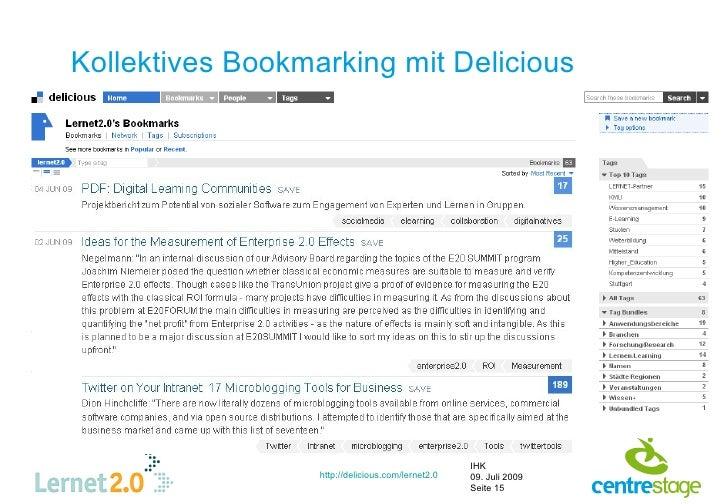 Kollektives Bookmarking mit Delicious                                                        IHK                   http://...
