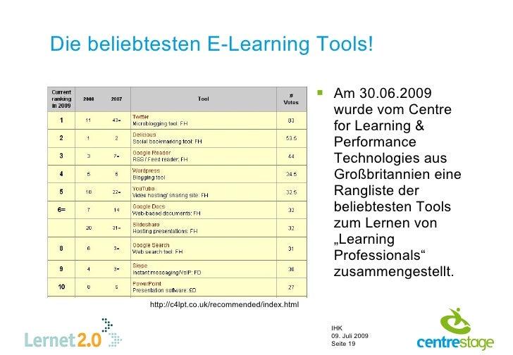 Die beliebtesten E-Learning Tools!                                                         Am 30.06.2009                 ...