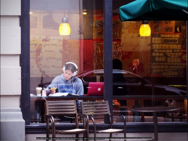 Relaxing in Starbucks by Phillip Jeffrey unter CC BY NC ND 2.0 via https://www.flickr.com/photos/tyfn/100735910