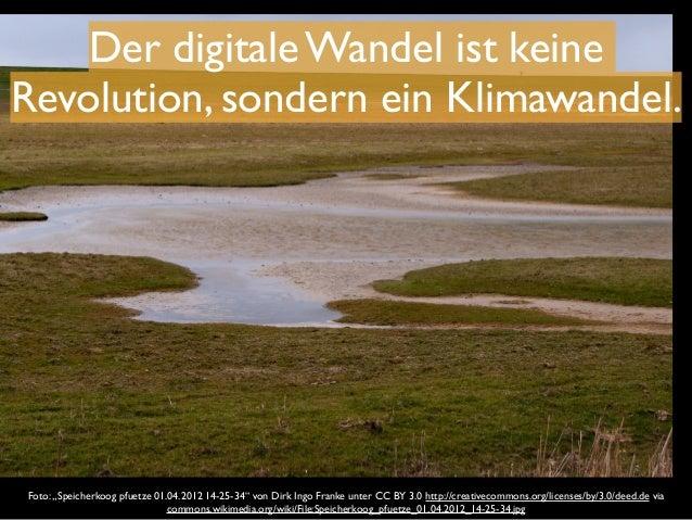 """Der digitale Wandel ist keine  Revolution, sondern ein Klimawandel.  Foto: """"Speicherkoog pfuetze 01.04.2012 14-25-34"""" von ..."""