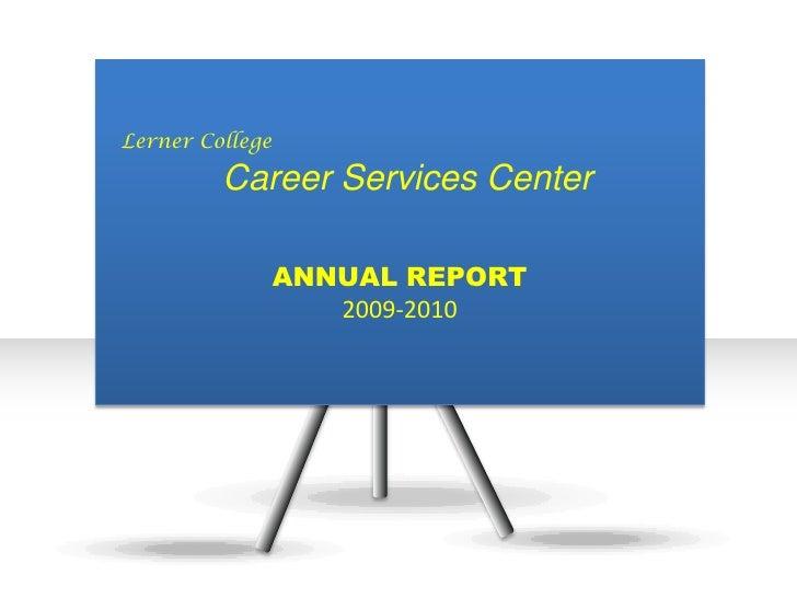 Lerner College Career Services Report-2010