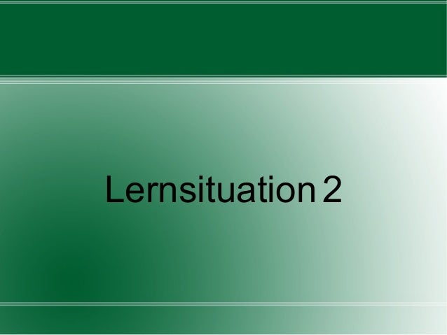 Lernsituation 2