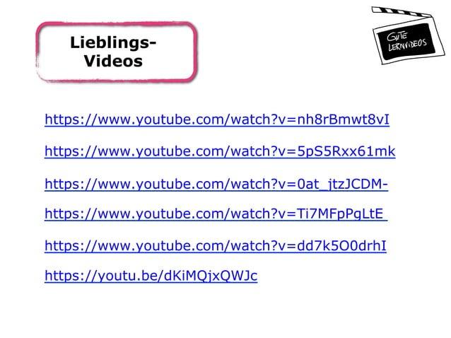 Lieblings- Videos https://www.youtube.com/watch?v=nh8rBmwt8vI https://www.youtube.com/watch?v=5pS5Rxx61mk https://www.yout...