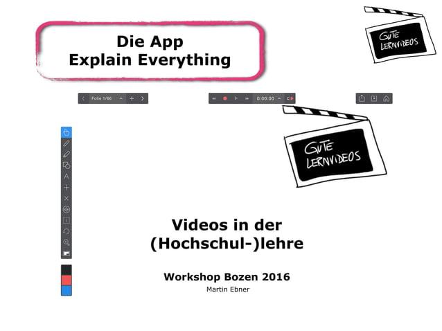 Die App Explain Everything
