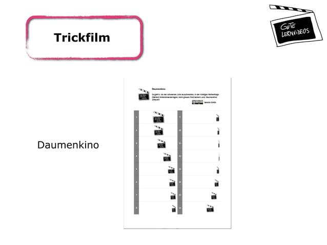 Trickfilm Daumenkino