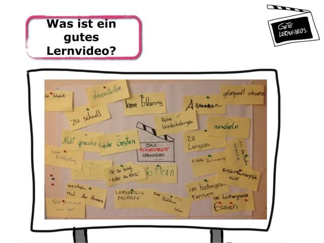 Was ist ein gutes Lernvideo?