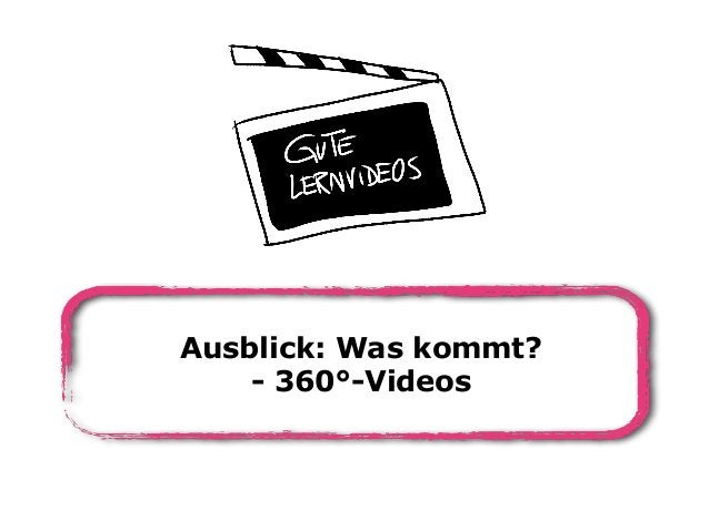 Ausblick: Was kommt? - 360°-Videos