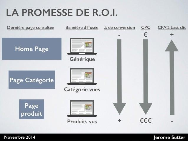 Jerome SutterNovembre 2014 LA PROMESSE DE R.O.I. Home Page Page Catégorie Page produit CPC € €€€ Dernière page consultée B...