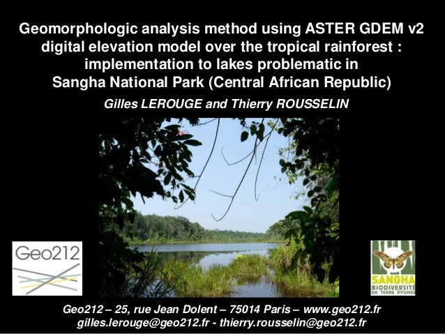 Geomorphologic analysis method using ASTER GDEM v2 digital elevation model over the tropical rainforest : implementation t...