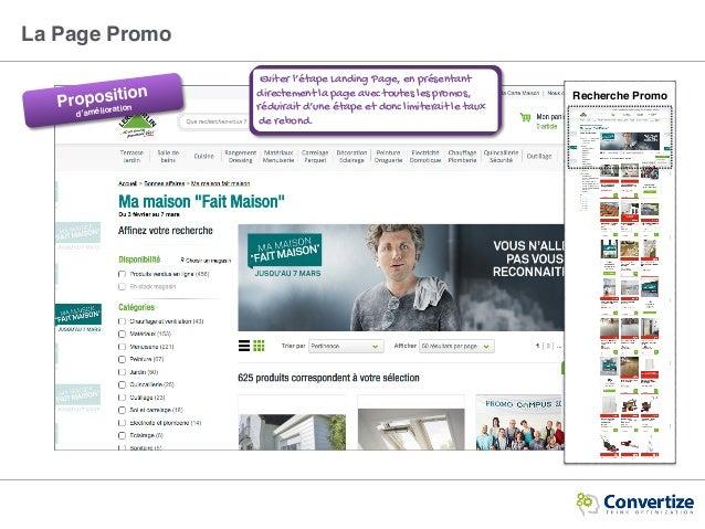 Recherche Promo Eviter l'étape Landing Page, en présentant directement la page avec toutes les promos, réduirait d'une éta...