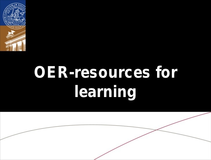 OER-resources for    learning