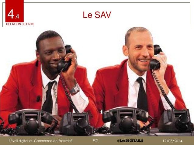 @LesDIGITAILS@LesDIGITAILS Le SAV4.4 RELATION CLIENTS Réveil digital du Commerce de Proximité 102 17/03/2014